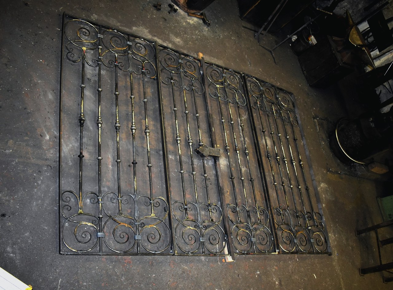 Kopie barokní mříže